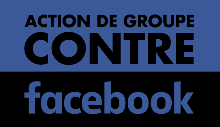 Action against Facebook logo